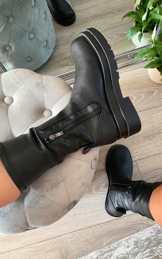 Louisa Faux Leather Long Boots