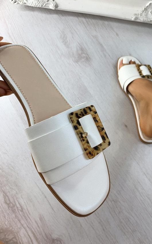 Louisa Tortoiseshell Buckle Sandals