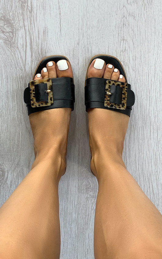 Louisa Tortoiseshell Buckle Sandals