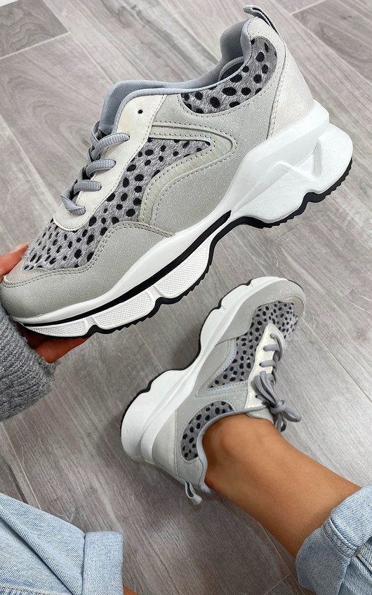 Louise Chunky Printed Trainers