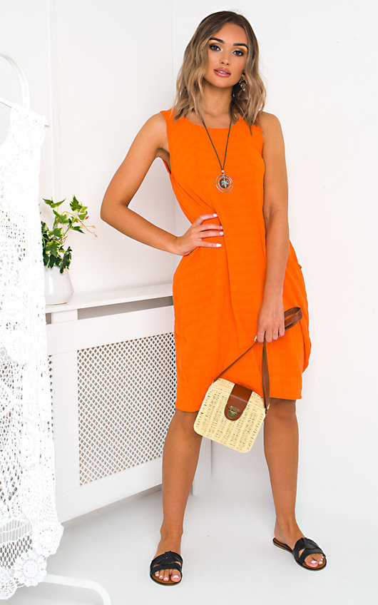 Louise Linen Midi Dress
