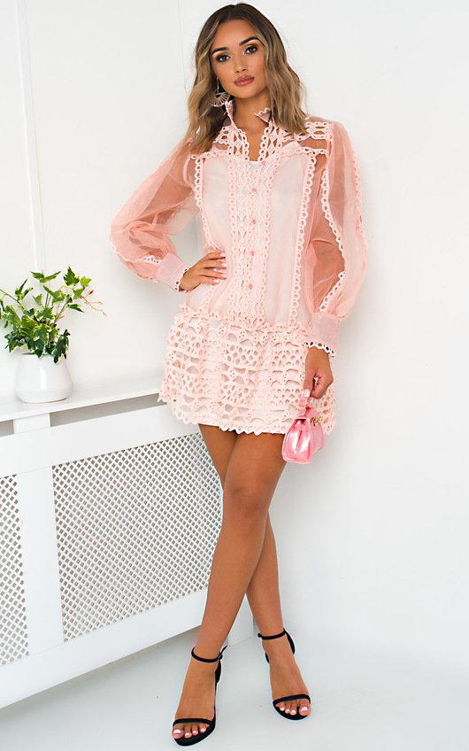 Louise Sheer Crochet Dress