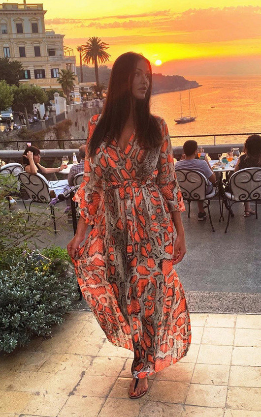 Loz Printed Floaty Maxi Dress