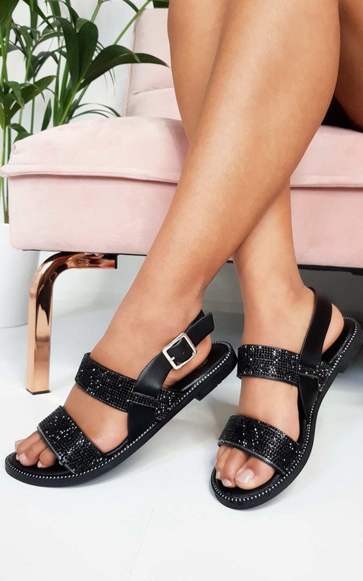 Luca Diamante Strappy Sandals