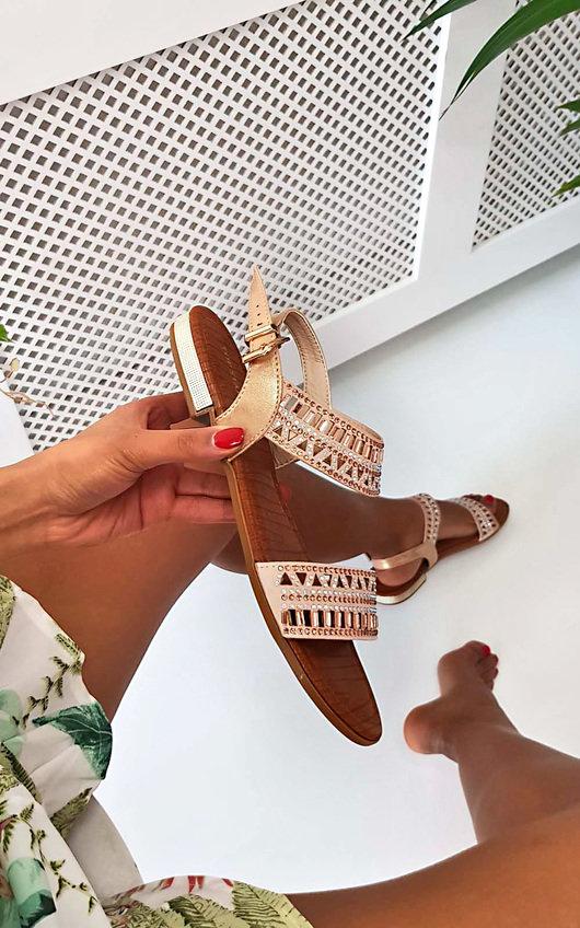 Lucia Diamante Strappy Sandals