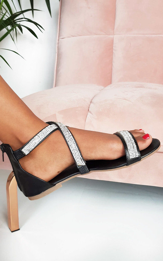 Lucie Diamante Embellished Strappy Sandals