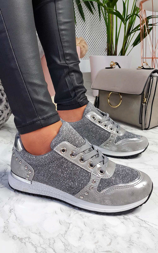 Lucie Metallic Shimmer Trainers