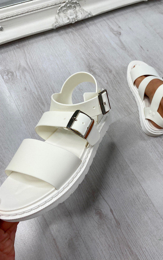 Lucinda Strappy Buckle Ankle Fastening Sandals