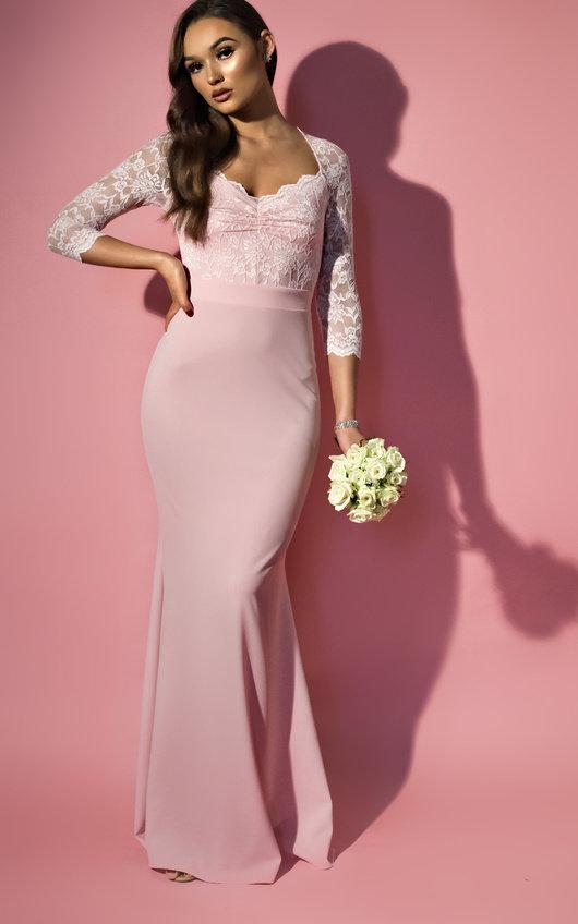 Luella Lace Long-Sleeved Maxi Dress