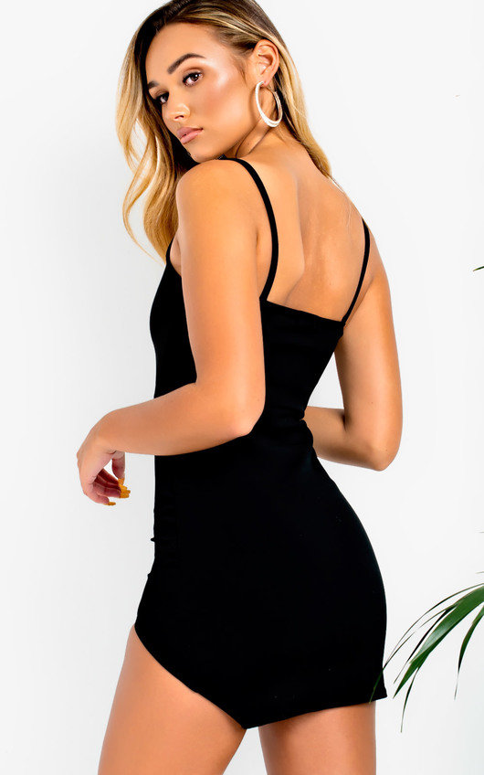 355358ebbef0 Lulu Sweetheart Mini Bodycon Dress in Black | ikrush