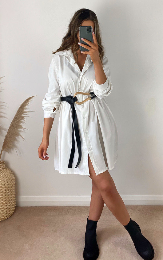Luna Oversized Shirt Dress