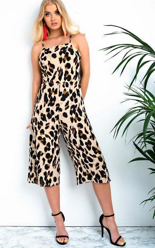Luna Printed Tie Back Jumpsuit