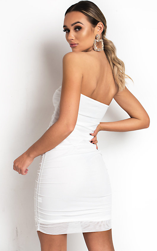 Luna Ruched Mesh Bodycon Dress