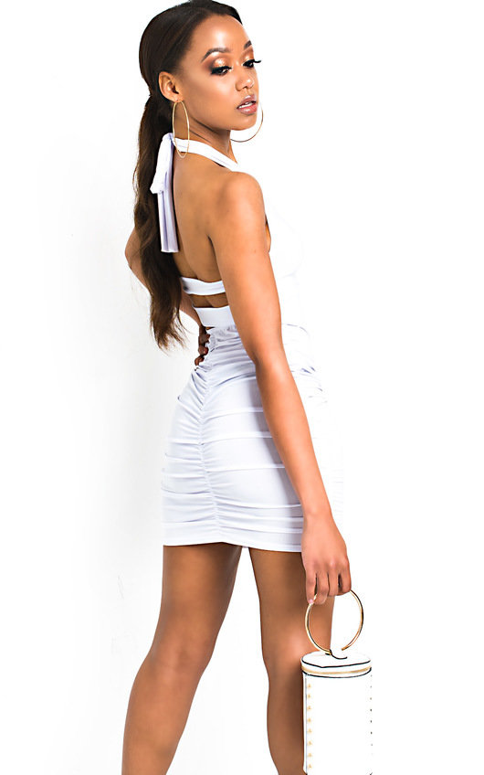 Luna Slinky Bodycon Halterneck Dress