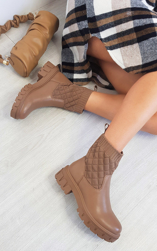 Luz Quilted Ankle Boots