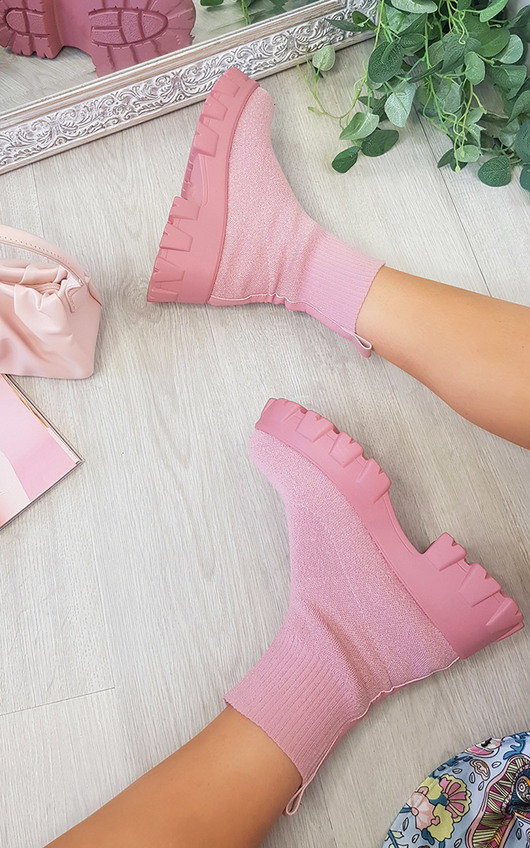 Lydia Chunky Sock Boots