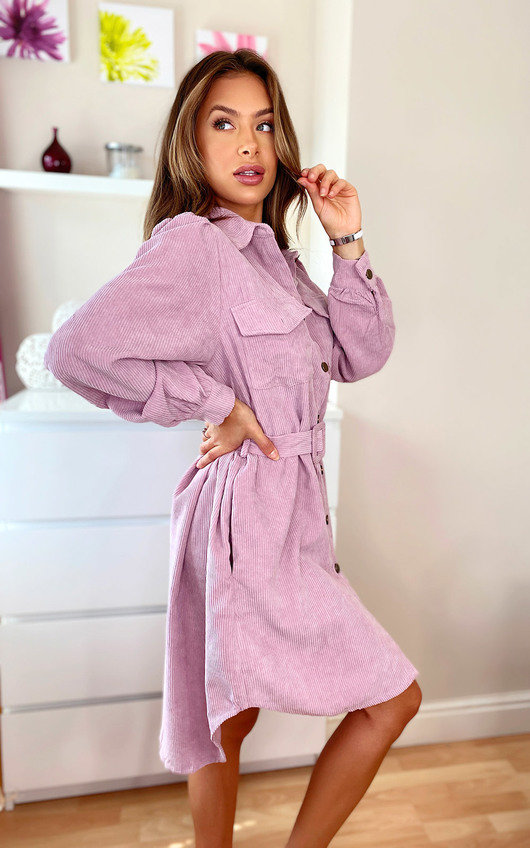 Lyla Cord Shirt Dress