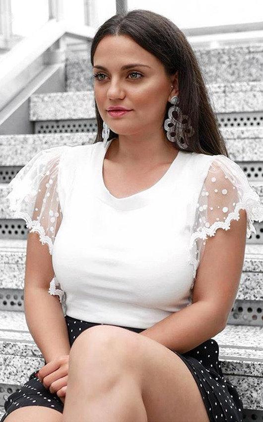 Lyla Polka Dot Frilled Sleeve Top