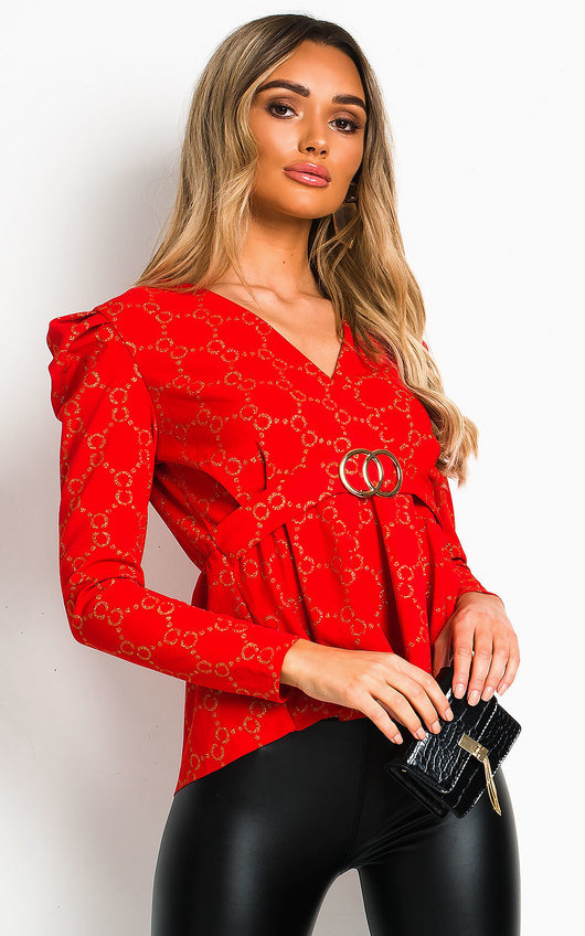 Lyly Ruffled Shoulder Sleeve Top