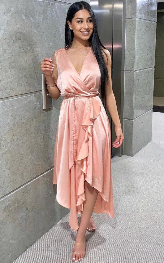 Lynn Frill Hem Midi Dress