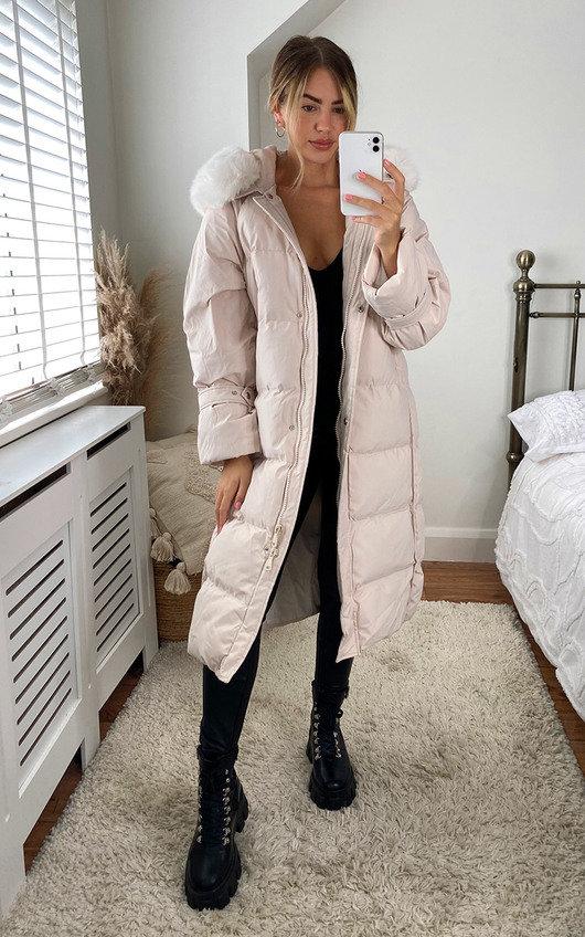 Lyra Faux Fur Longline Hooded Padded Puffer Coat