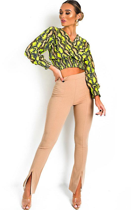 Lyra High Waist Split Front Trousers