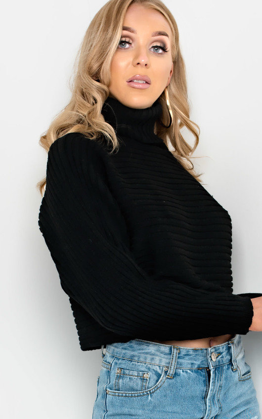 Maarah Poloneck Knit Crop Jumper