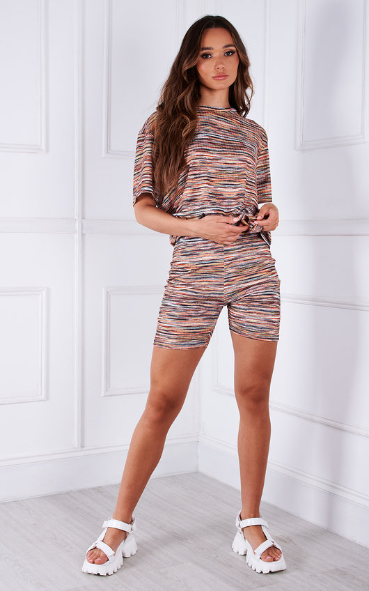 Mabel Striped Oversized T-Shirt and Shorts Co-ord