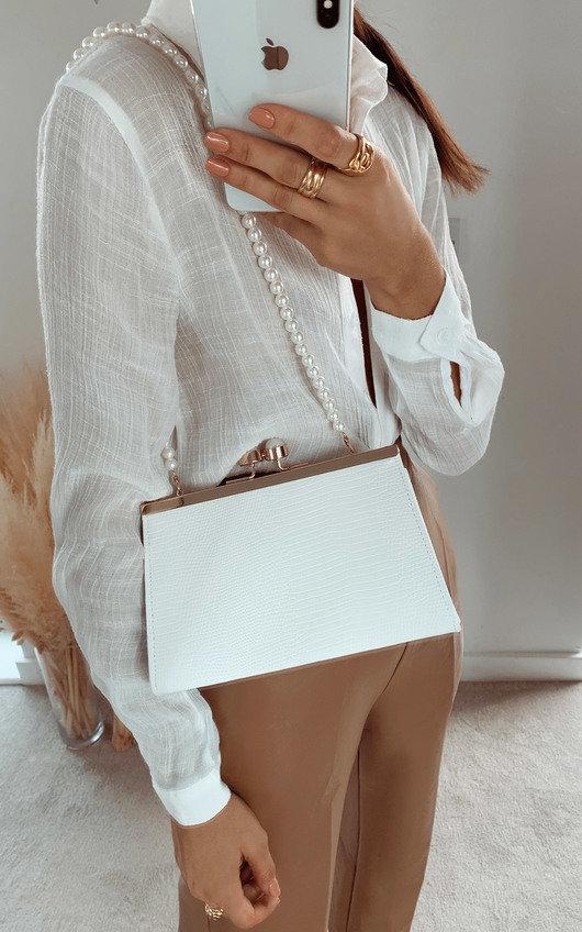 Maggie Croc Print Shoulder Bag