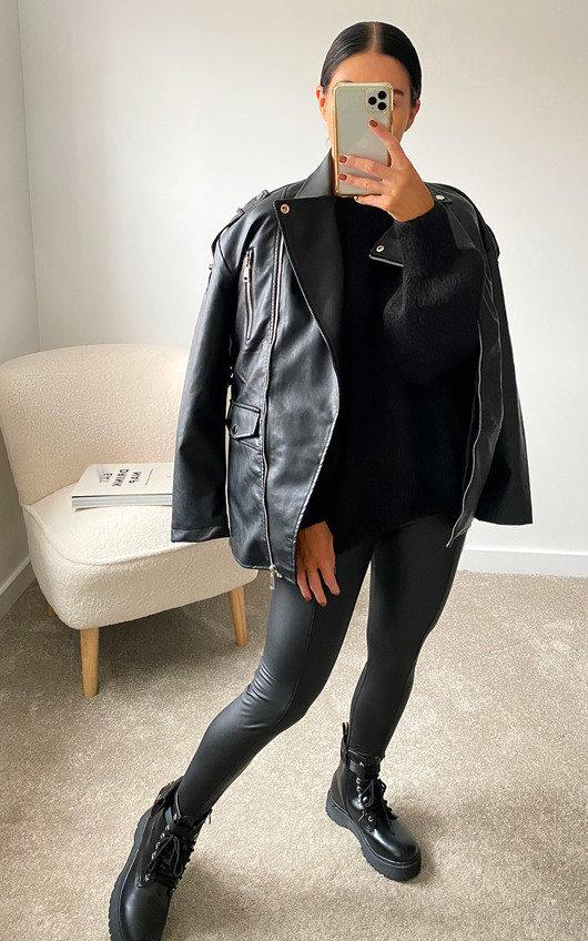 Mais Faux Leather Jacket