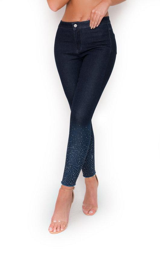 Maisie Diamante High Waisted Skinny Jeans