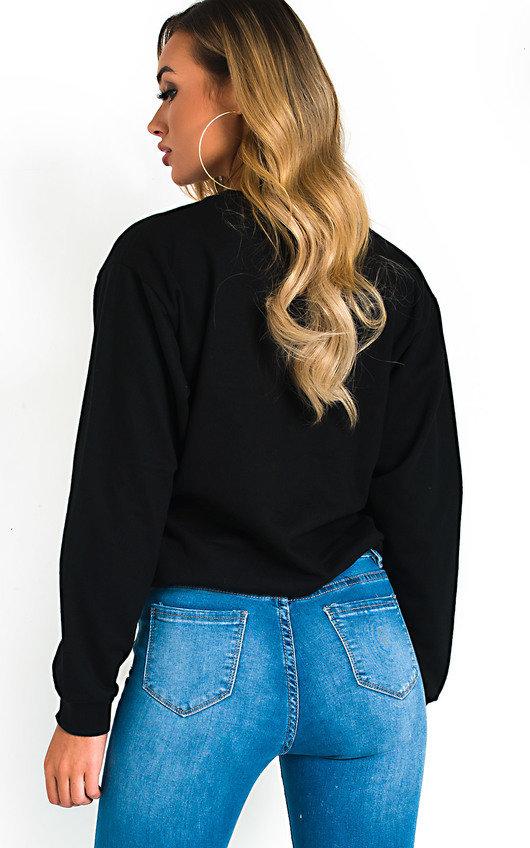 Maisie Oversized Slogan Sweatshirt Top