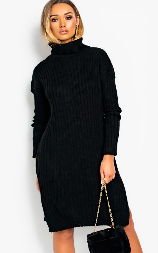 Maisie Side Split Jumper Dress
