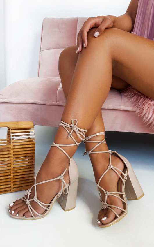 Maisie Tie Up Block Heels