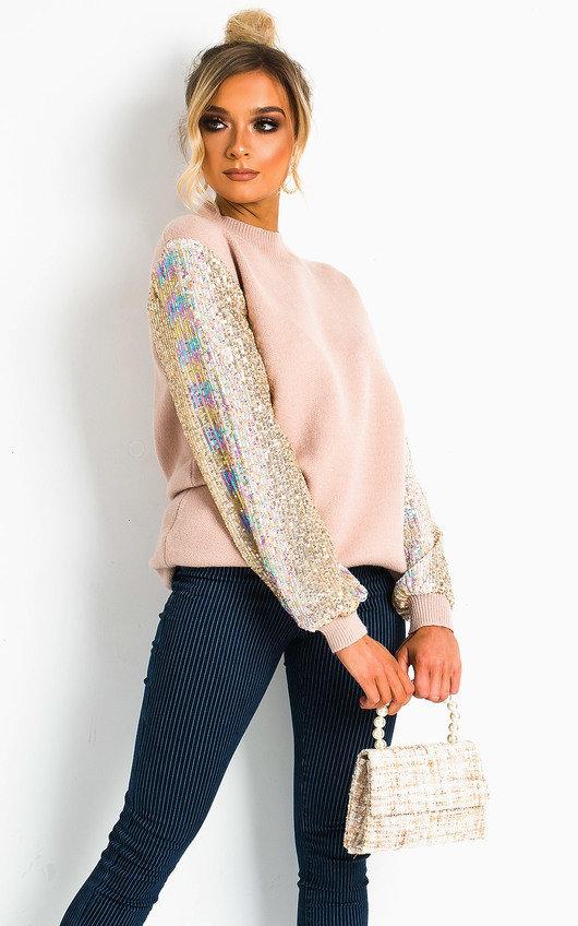 Malia Embellished Knitted Jumper Dress