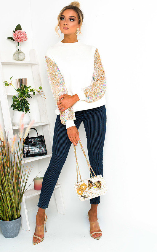 Malia Embellished Knitted Jumper