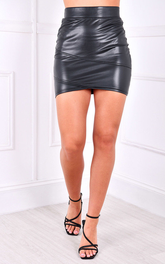Malika PU Mini Skirt