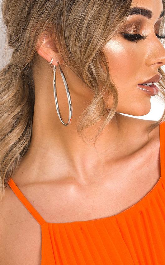 Malina Pear Drop Hoop Earrings