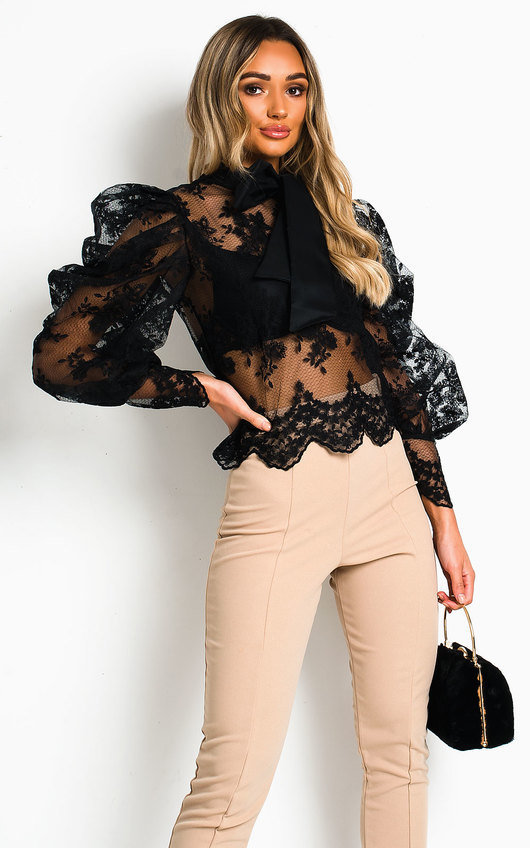 Malisha Embroidered Lace  Blouse
