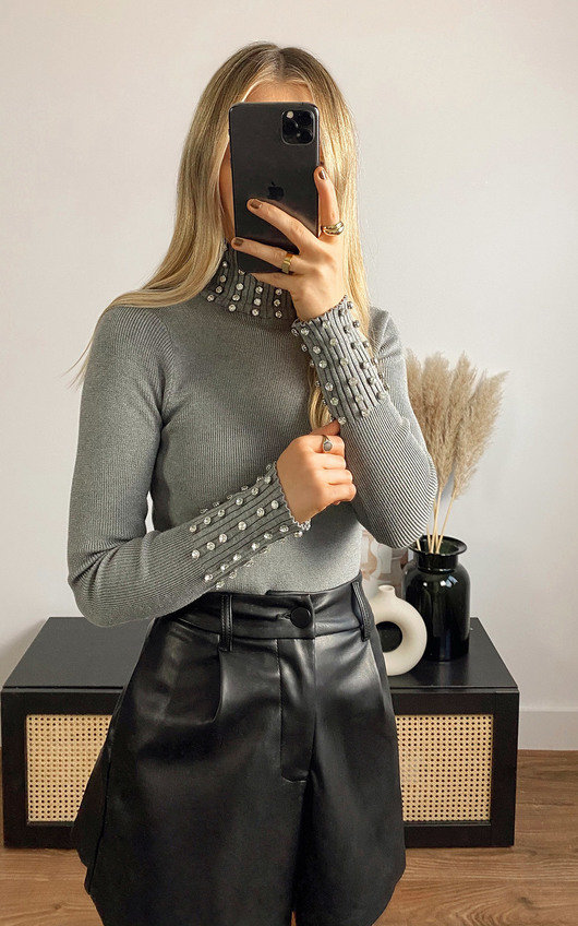 Mallory Diamante Embellished Jumper