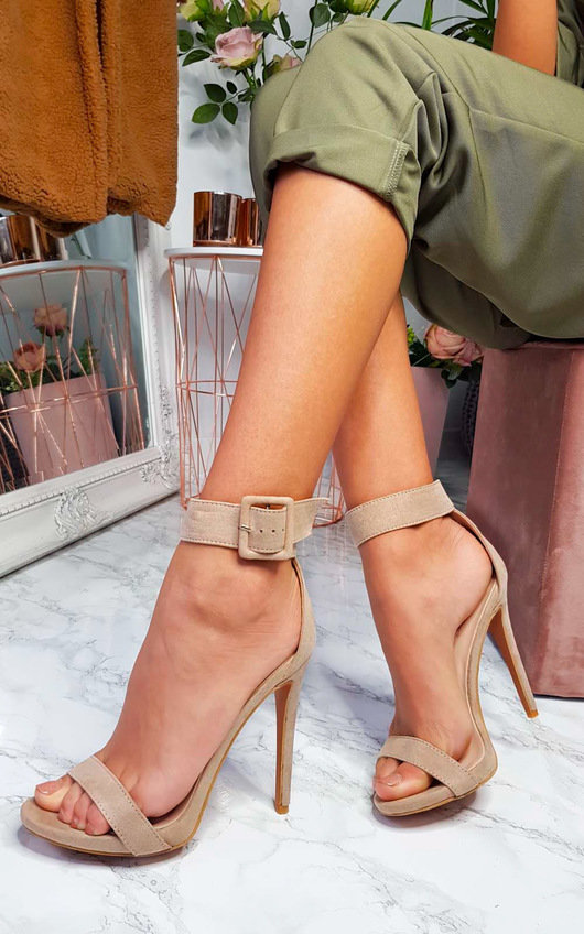 Mandy Barely There Buckle Heels
