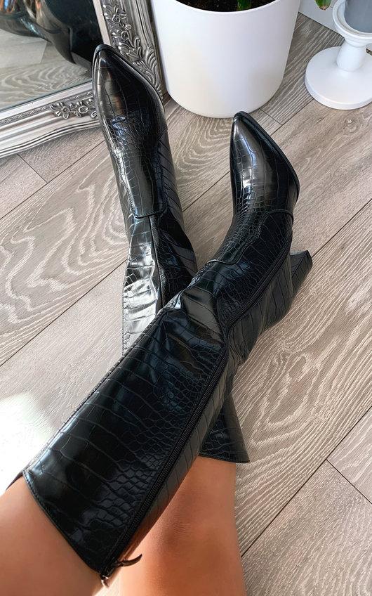 Mandy Knee High Heeled Boots