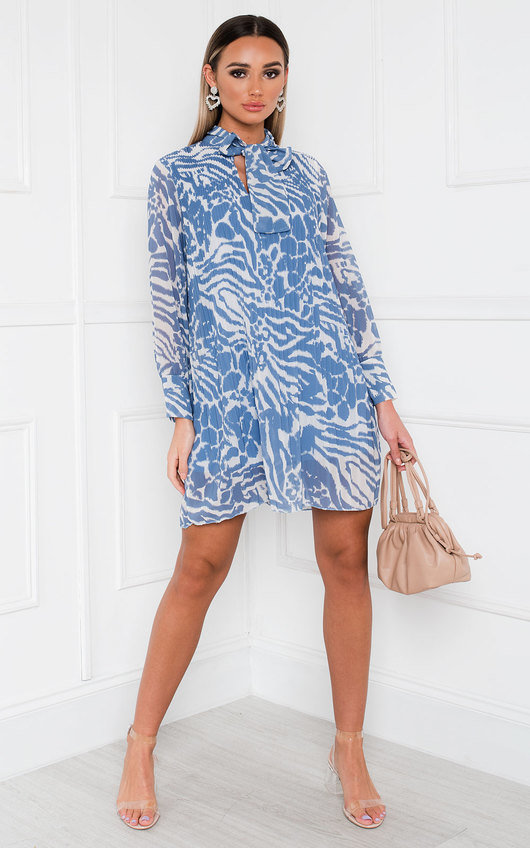 Mandy Pleated Shift Dress