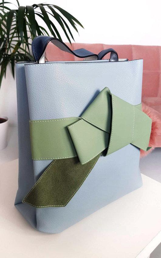 Maria Colour Block Bow Tote Handbag