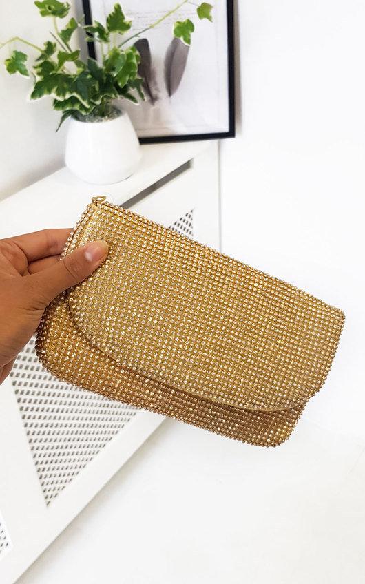Maria Diamante Chainmail Pouch Shoulder Bag