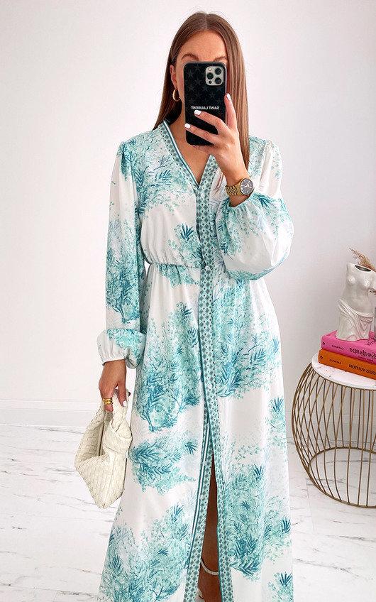 Maria Floral Button Up Maxi Dress