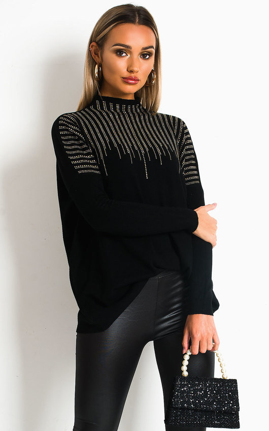 Mariah Diamante Detailed Jumper