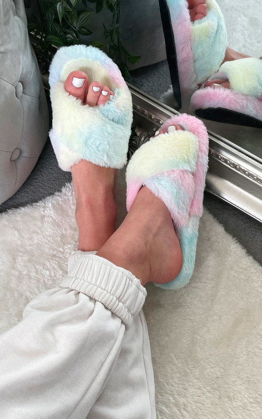 Mariah Faux Fur Slippers