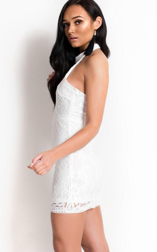 Mariah High Neck Collar Lace Dress