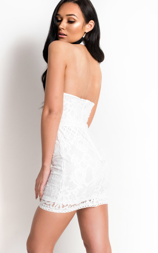 Mariah High Neck Collar Lace Dress